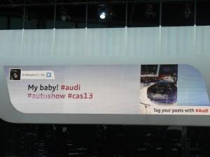 Hashtag Audi Auto Show