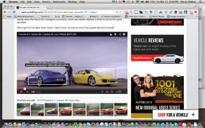 You can insert links in a video, and with some planning, the embedded links can compliment your images.  This video embedded link for a sports car comparison displays the link for each car based on the cursor selection.