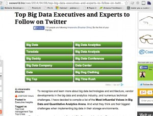CEOWorld Top Big Data