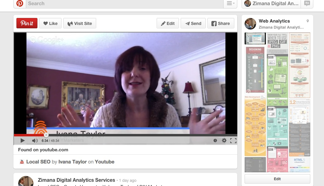 Pinterest Board With YouTube Video Embed