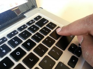 Clicking A Laptop Computer Keyboard