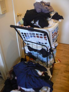 Laundry in A Basket - Website Clutter