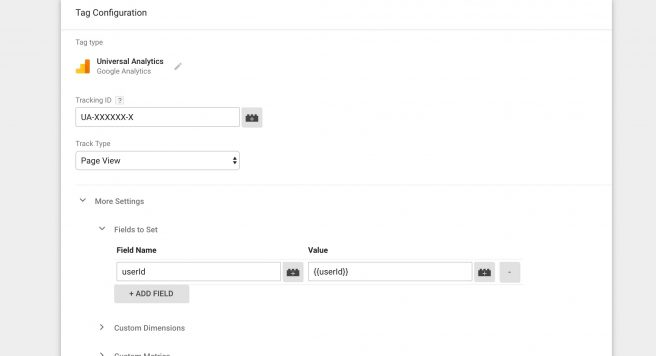 Google Analytics Tag Manager User ID